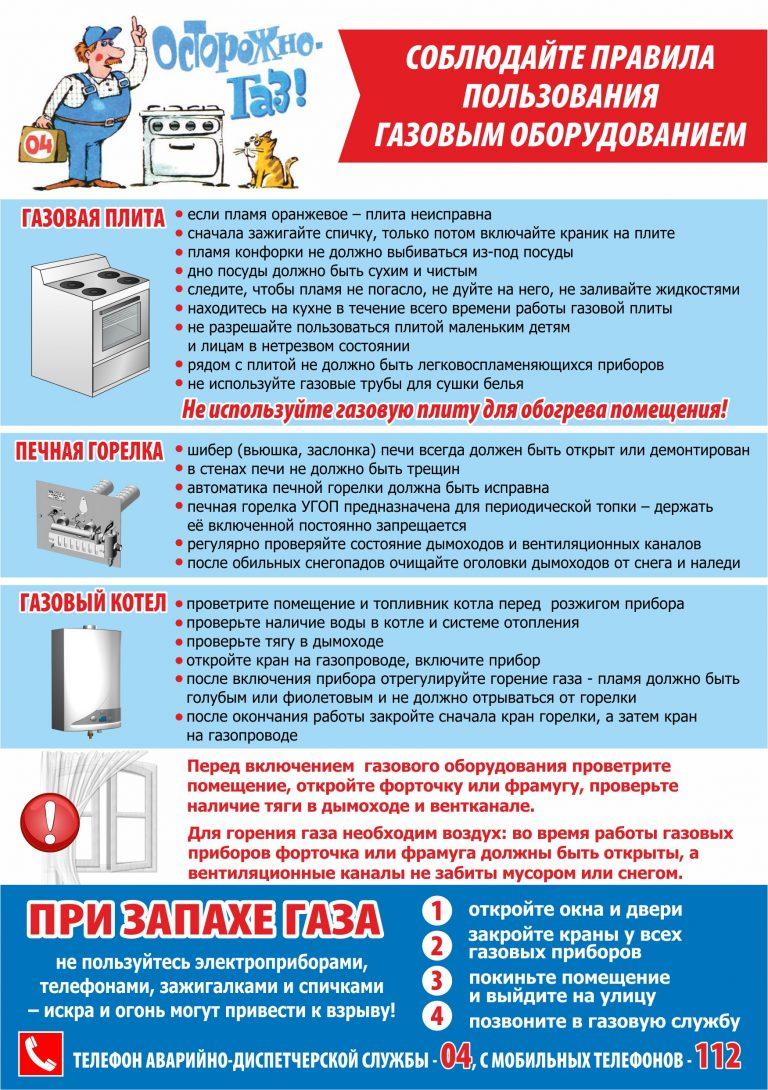 Памятка по безопасной эксплуатации внутридомового газового оборудования | авторская платформа pandia.ru