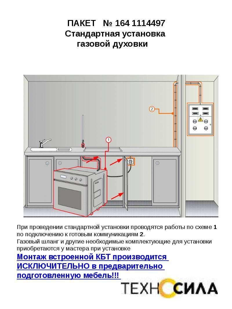 Установка духового шкафа: правила монтажа и подключения своими руками