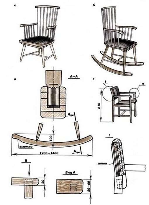Как сделать кресло качалку своими руками (в том числе из фанеры): виды, пошаговая инструкция, чертежи и прочее + фото и видео