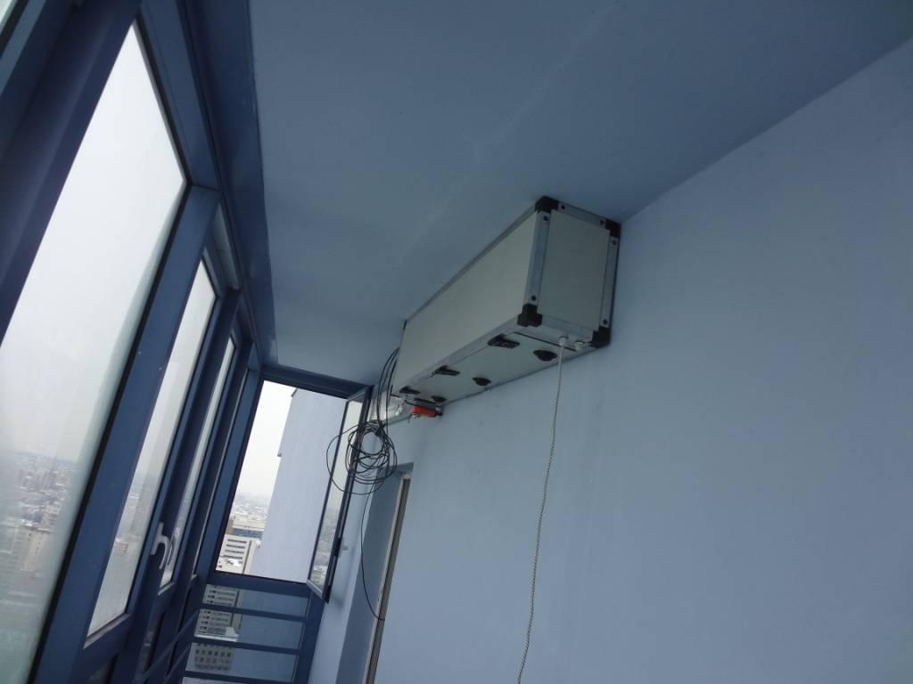 Правила сооружения вентиляции на балконе своими руками