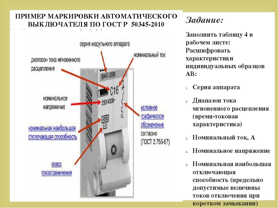 Маркировка автоматических выключателей: как правильно подобрать автомат для проводки