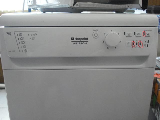 Посудомоечная машина аристон - коды ошибок