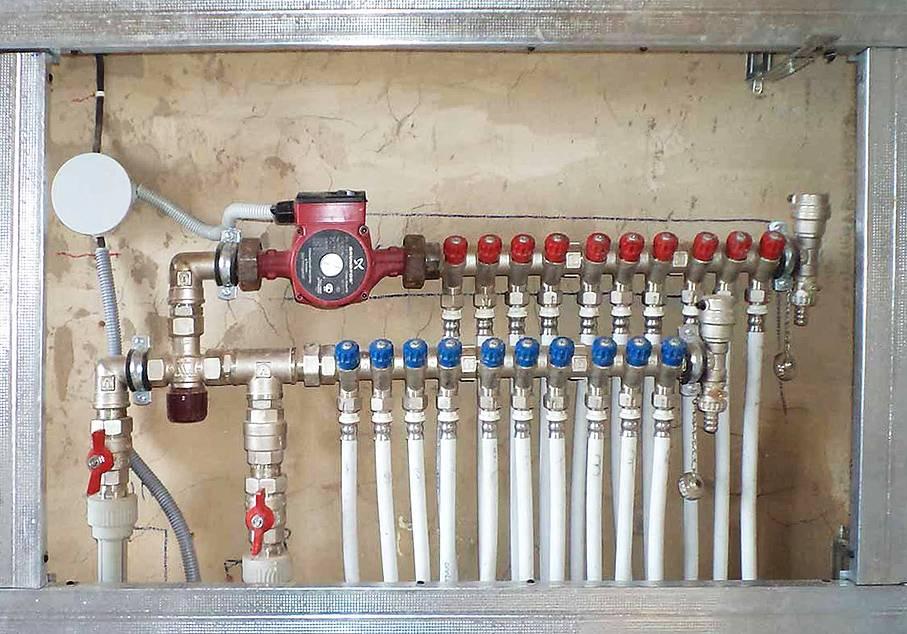 Распределительная гребенка системы отопления: назначение, принцип действия, правила подключения