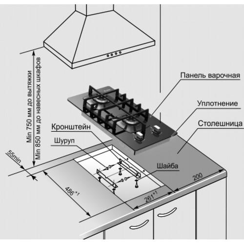 Как подключить газовую варочную панель