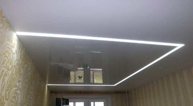 Лампы для натяжных потолков, как продумать расположение освещения, преимущества точечных ламп