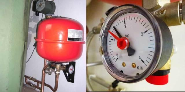 Давление в расширительном бачке газового котла: нормы + как накачать и отрегулировать