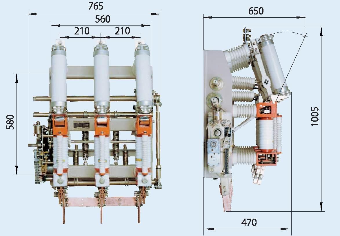 Оборудование для отключения токовой нагрузки. выключатель нагрузки