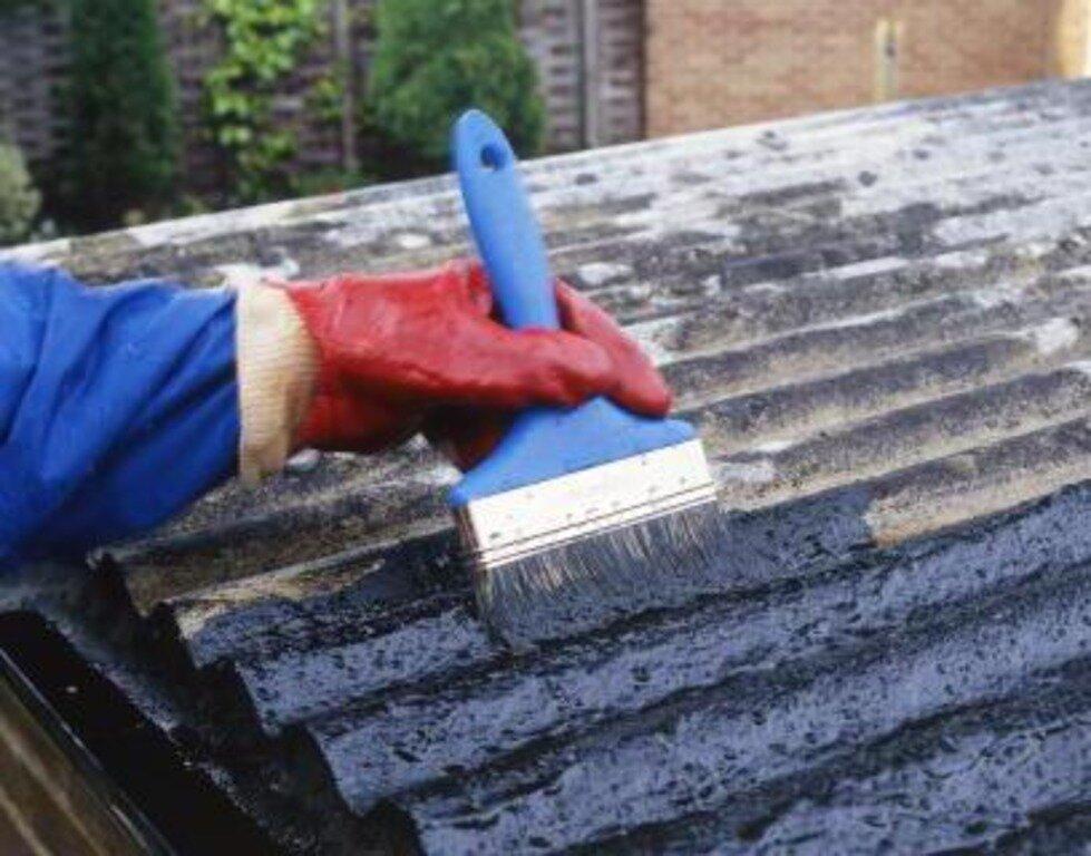 Лопнул шифер на крыше чем заделать - строим сами