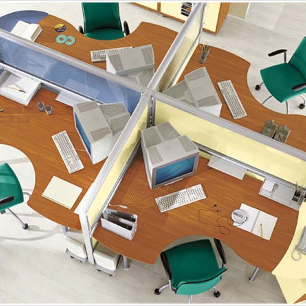 Зонирование в офисе - выбор перегородок и их применение с фото