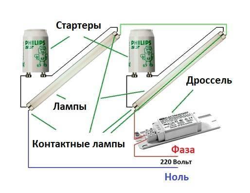 Дроссель для ламп дневного света - как проверить? схема подключения и ремонт
