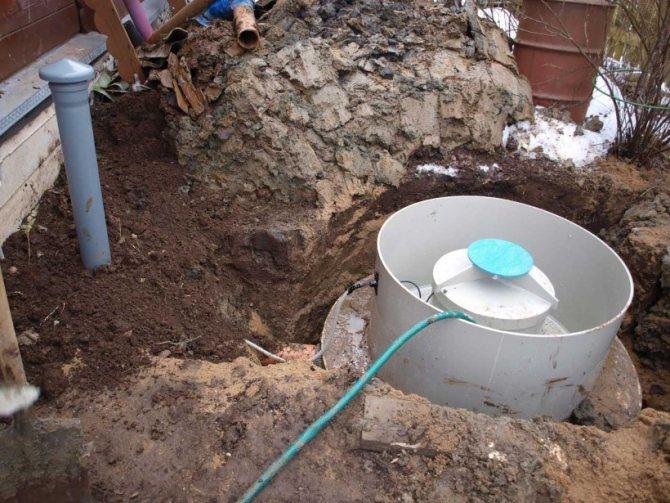 Виды канализаций для установки на даче