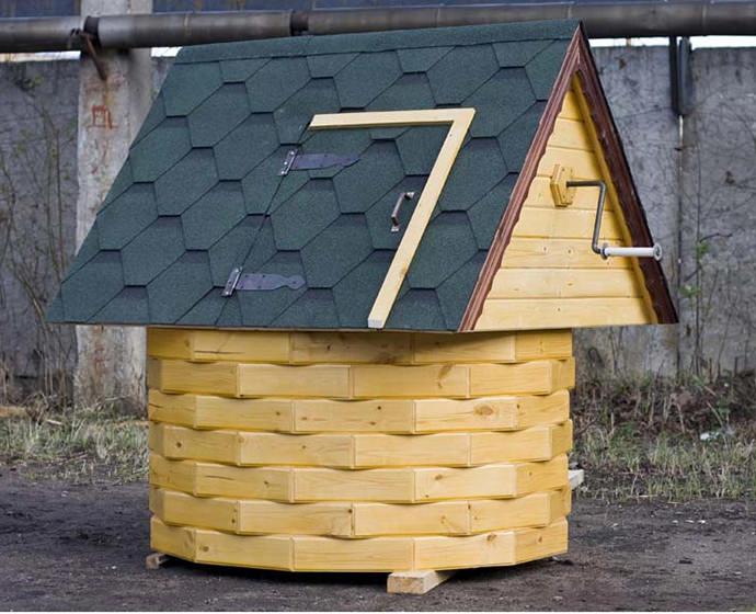 Домик для колодца - 140 фото лучших декоративных идей