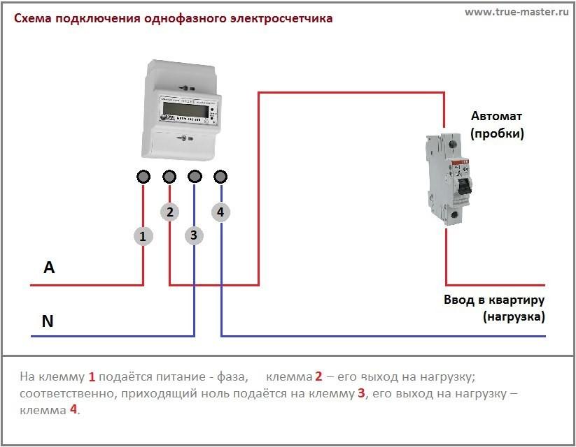 Как подключить электросчетчик: монтажа и схема подсоединение однофазного прибора