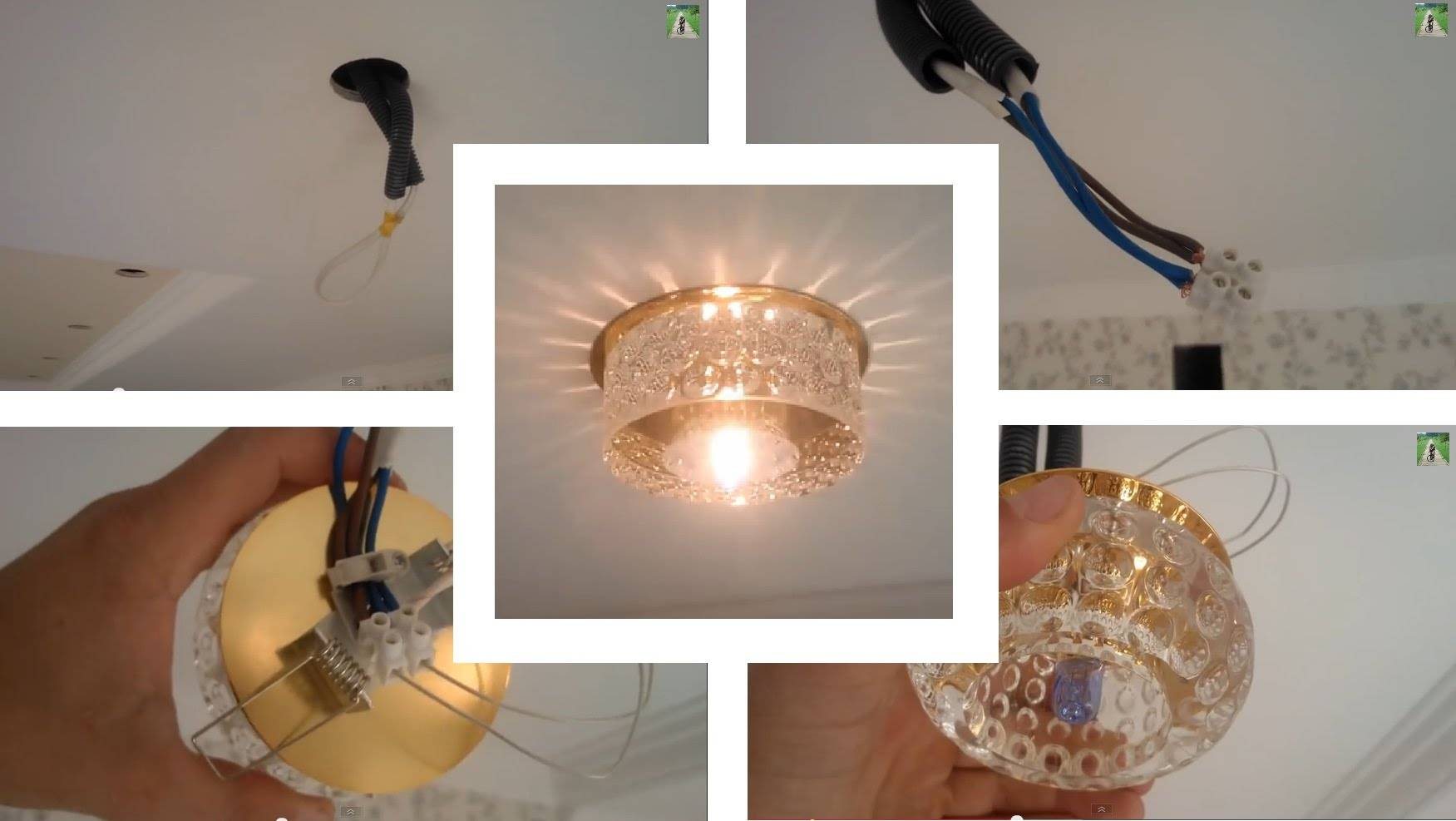 Какие точечные светильники и лампы подойдут для натяжного потолка
