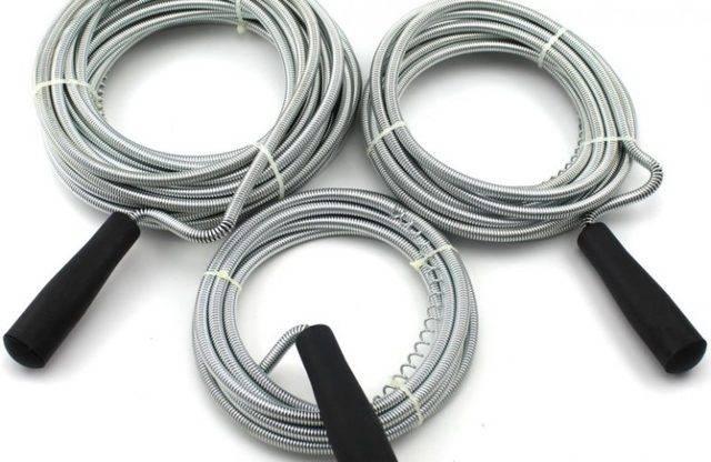 Трос для прочистки канализационных труб: сантехнический трос для чистки канализации, проволока, ерш, ершик для очистки и пробивки труб