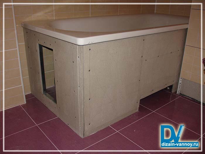 Как сделать функциональный экран под ванной — схемы с полками