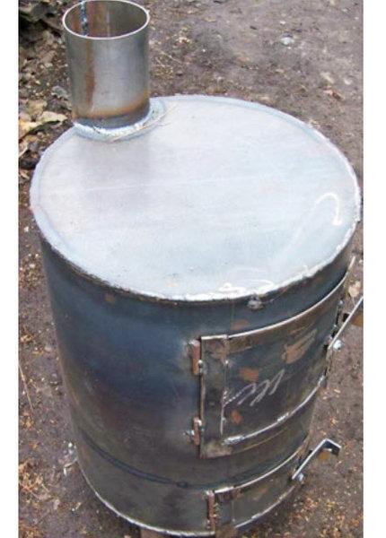 Буржуйка из 200 литровой бочки своими руками: чертежи, схемы, инструкция и фото