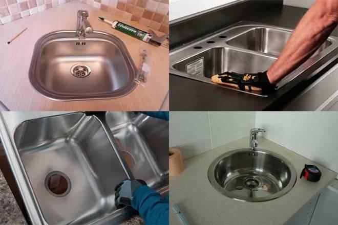 Как установить накладную мойку на кухне: инструкция по монтажу