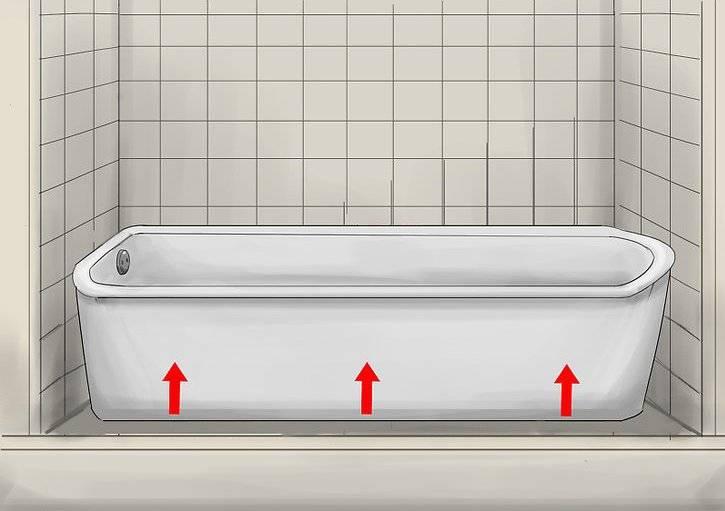 Высота ванны от пола: стандарт, стандартная высота установки ванной с ножками от пола, на какой высоте устанавливается