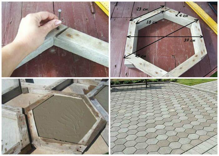 Форма для тротуарной плитки своими руками. изготовление форм для тротуарных плит
