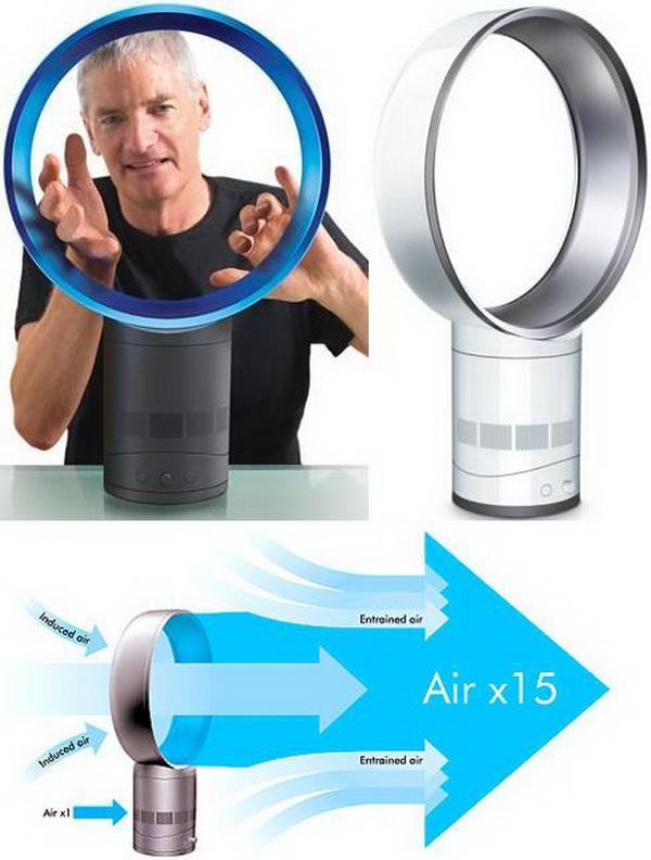 Вентилятор без лопастей: принцип работы и главные функции