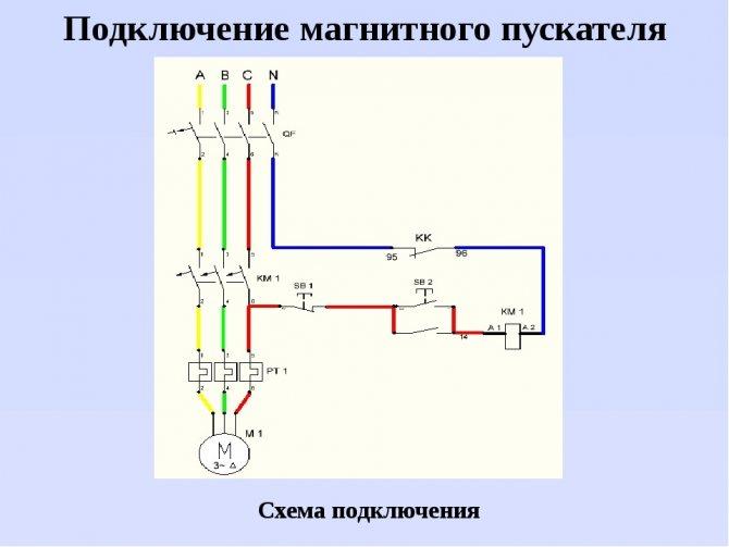 Схема подключения пускателя - tokzamer.ru