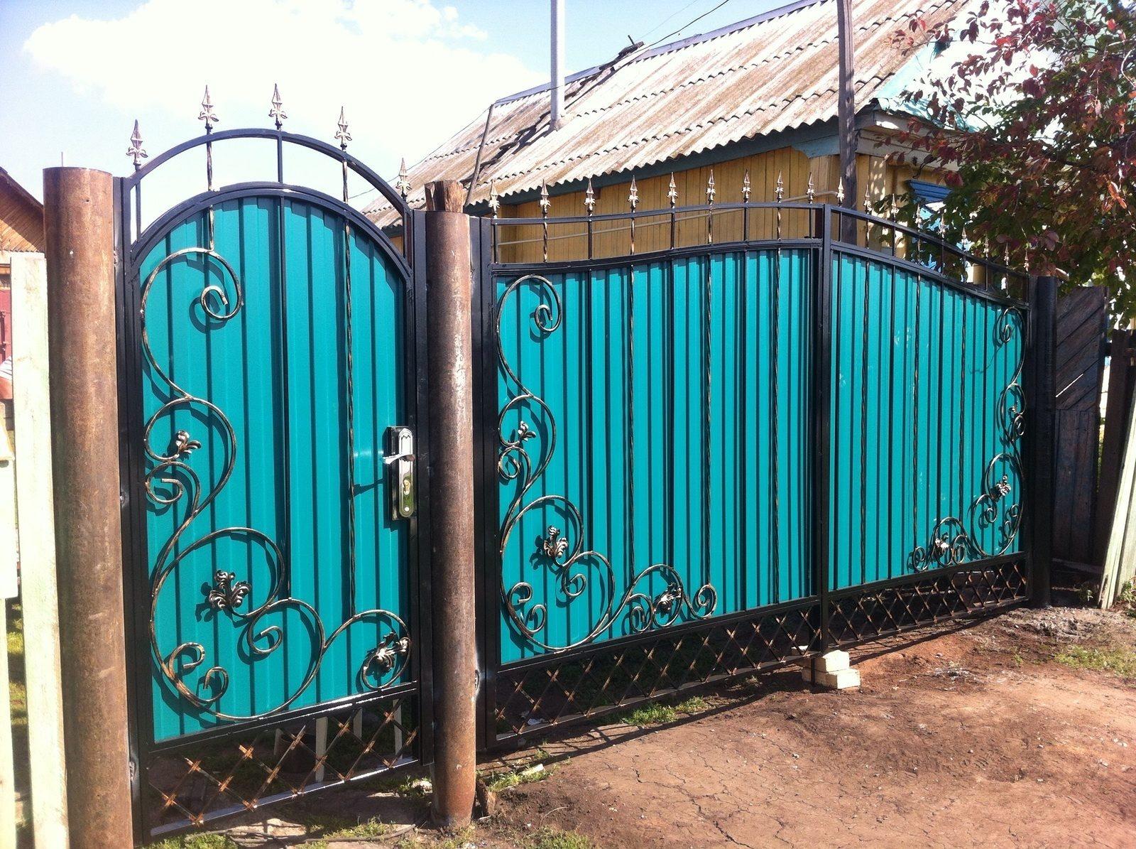 Типы и виды ворот. как самому сделать калитку