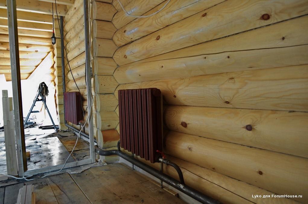 Отопление деревянного дома своими руками - выбор системы отопления