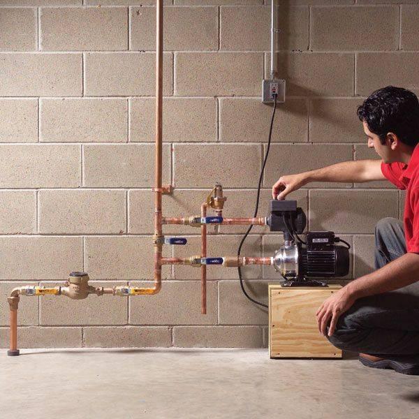 Насос для повышения давления воды в квартире: изучаем особенности установки и использования