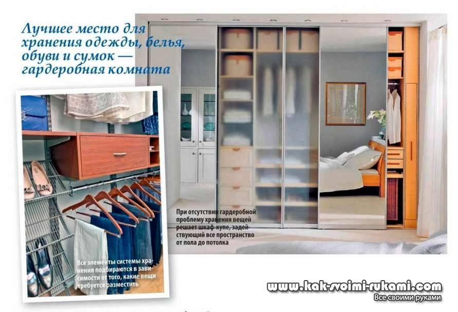 Гардеробная комната: фото интерьеров встроенных и отдельных гардеробов, рекомендации по обустройству