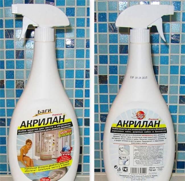 Чистить акриловую ванну: обзор химических и натуральных средств