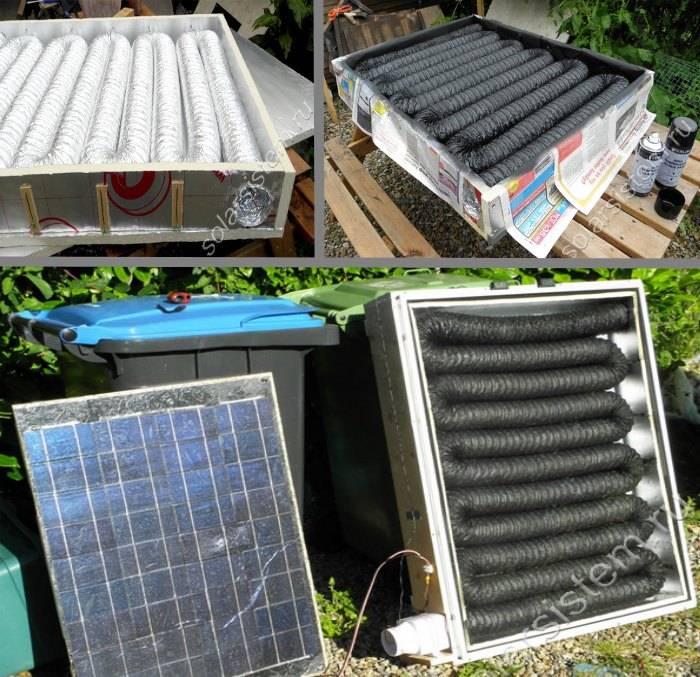 Изготавливаем солнечный коллектор для дома своими руками