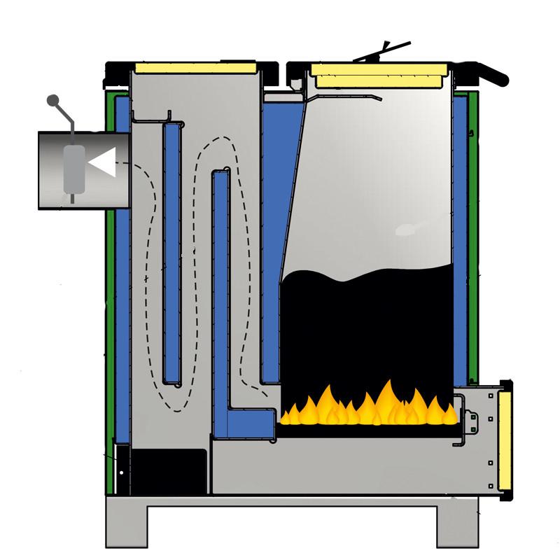 Как самому изготовить печь длительного горения