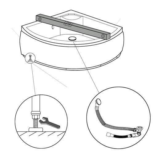 Схема сборки поддона душевой кабины тритон