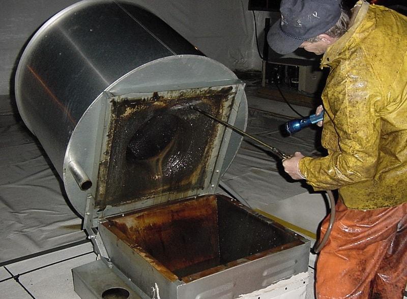 Чистка вентиляции, воздуховодов и вентиляционных каналов от жира