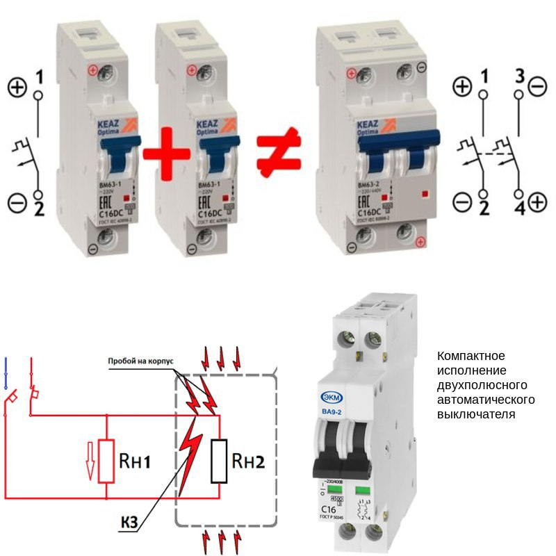 Трехполюсный автоматический выключатель: сфера применения и время-токовые параметры