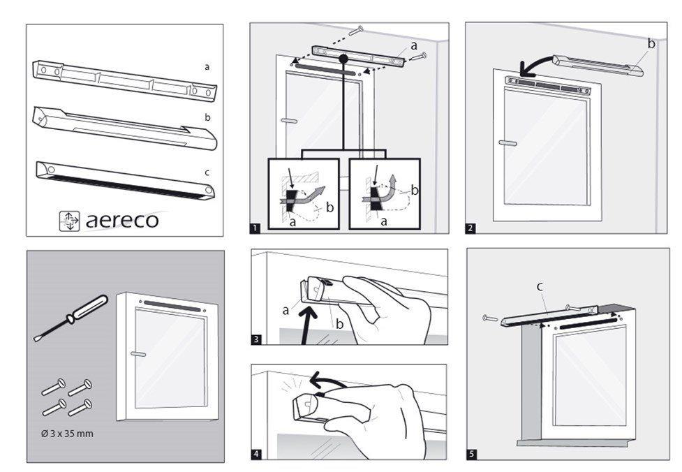 Вентиляция пластиковых окон своими руками: установка клапана