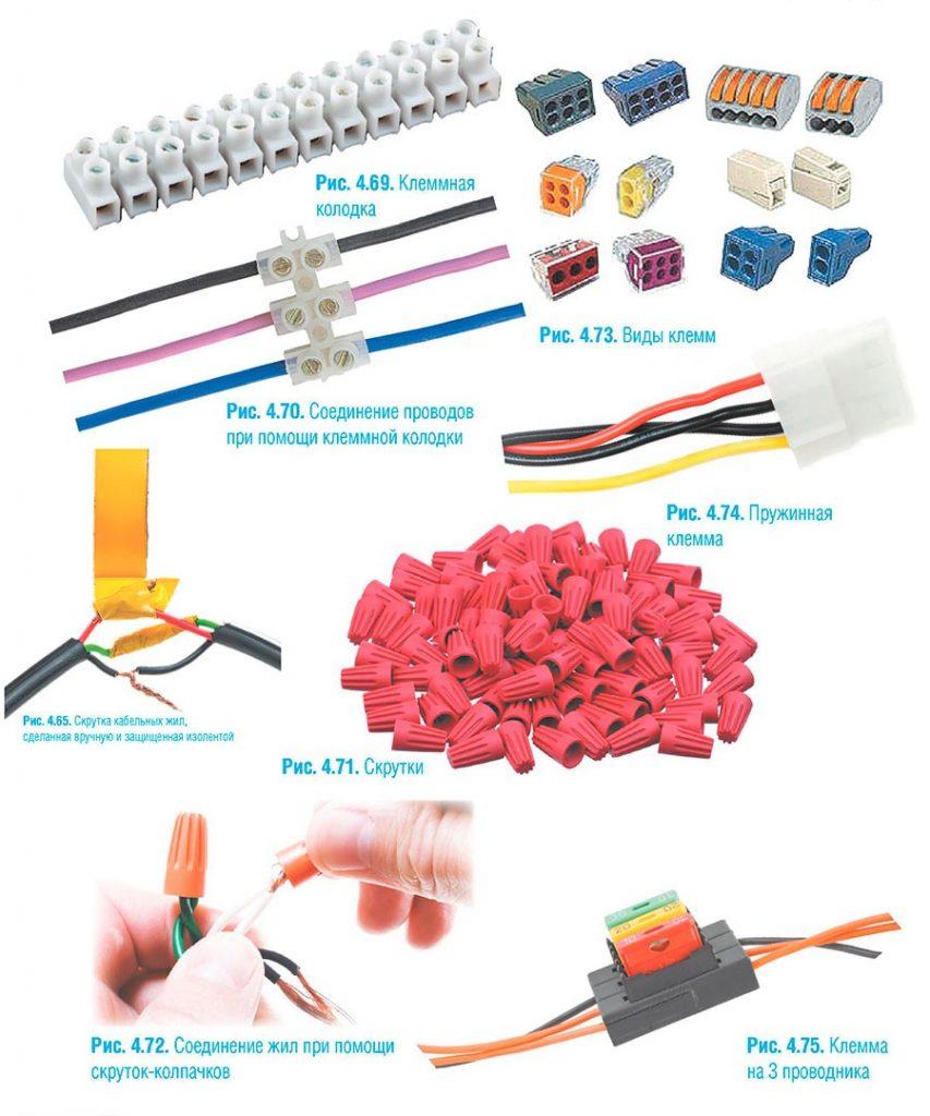 Скрутка проводов разного сечения - всё о электрике в доме