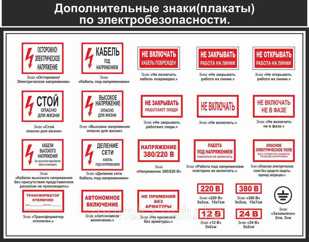 Описание и гост знаков по безопасности в электроустановках и их разновидности