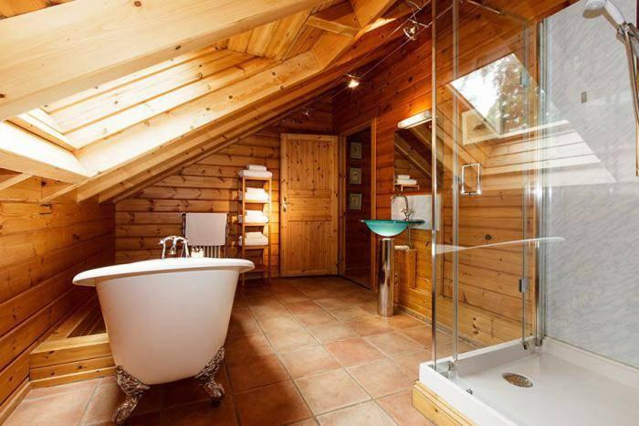 Ванная комната в частном доме (102 фото): дизайн ванной комнаты в деревянном загородном доме из бруса и каркасном. проекты и идеи обустройства