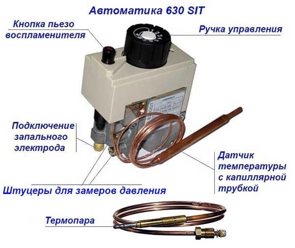 Как производится регулировка автоматики газового котла - точка j