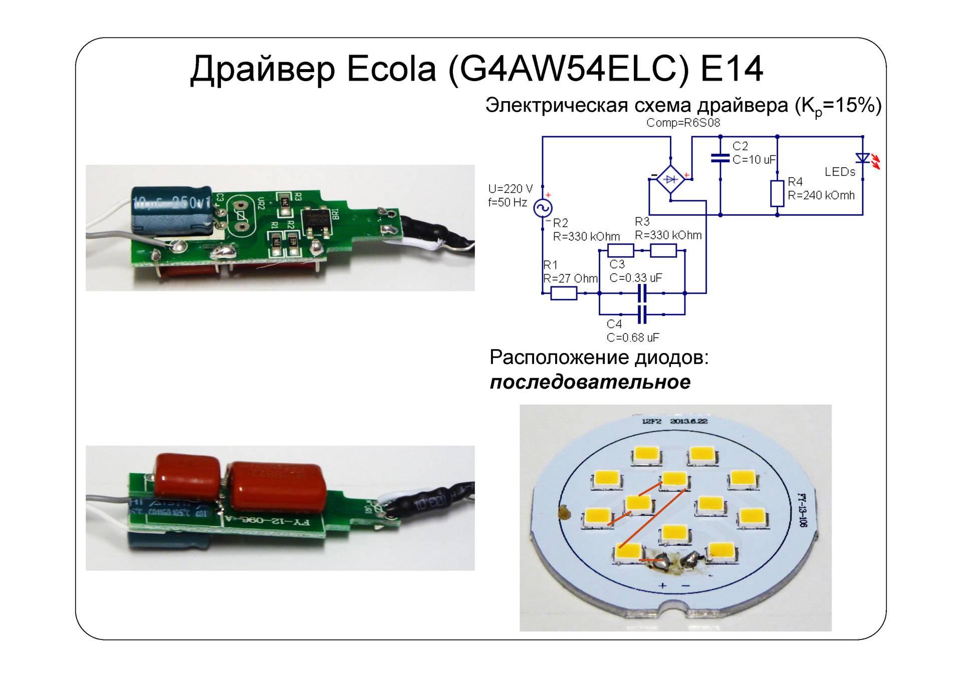Устройство светодиодной лампы на 220 вольт: как работает, из чего состоит
