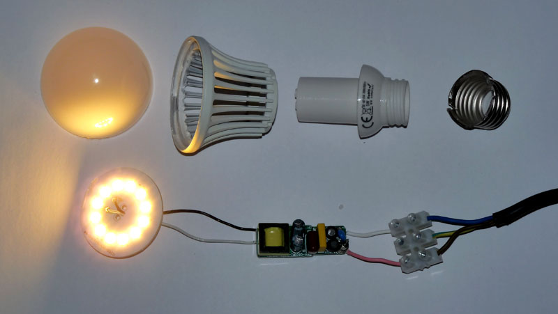 Неисправности светодиодных ламп