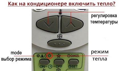 Как включить на кондиционере теплый воздух? Руководство по активизации обогрева