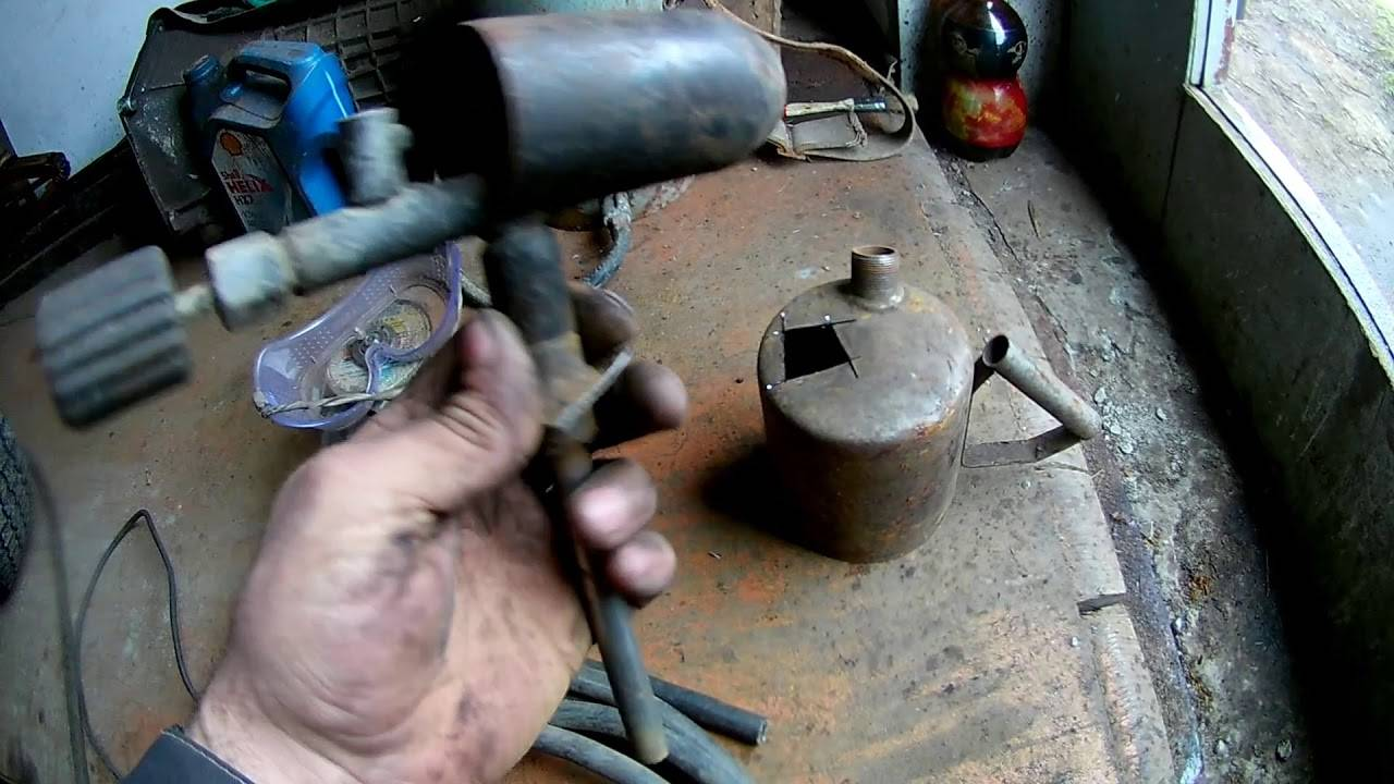Подробная фото и видео инструкция по изготовлению горелки на отработке из паяльной лампы. как сделать горелку на отработанном масле своими руками?