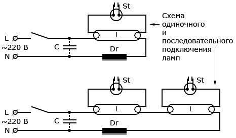 Зачем нужен дроссель для люминесцентных ламп: устройство + схема подключения - точка j