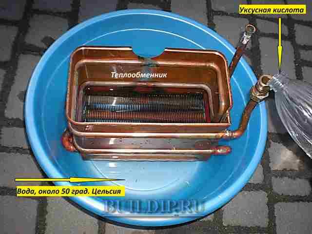 Промывка теплообменника газового котла в домашних условиях