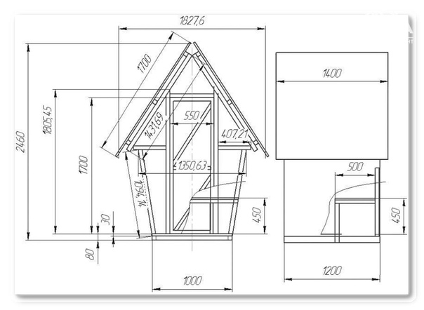 Дачный туалет типа шалаш своими руками:устройство,материалы
