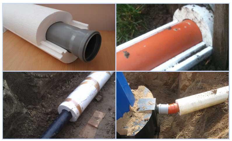 Утепление канализационных труб: материалы, чем и как утеплить