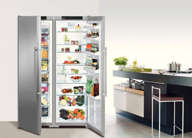Что такое side-by-side холодильник